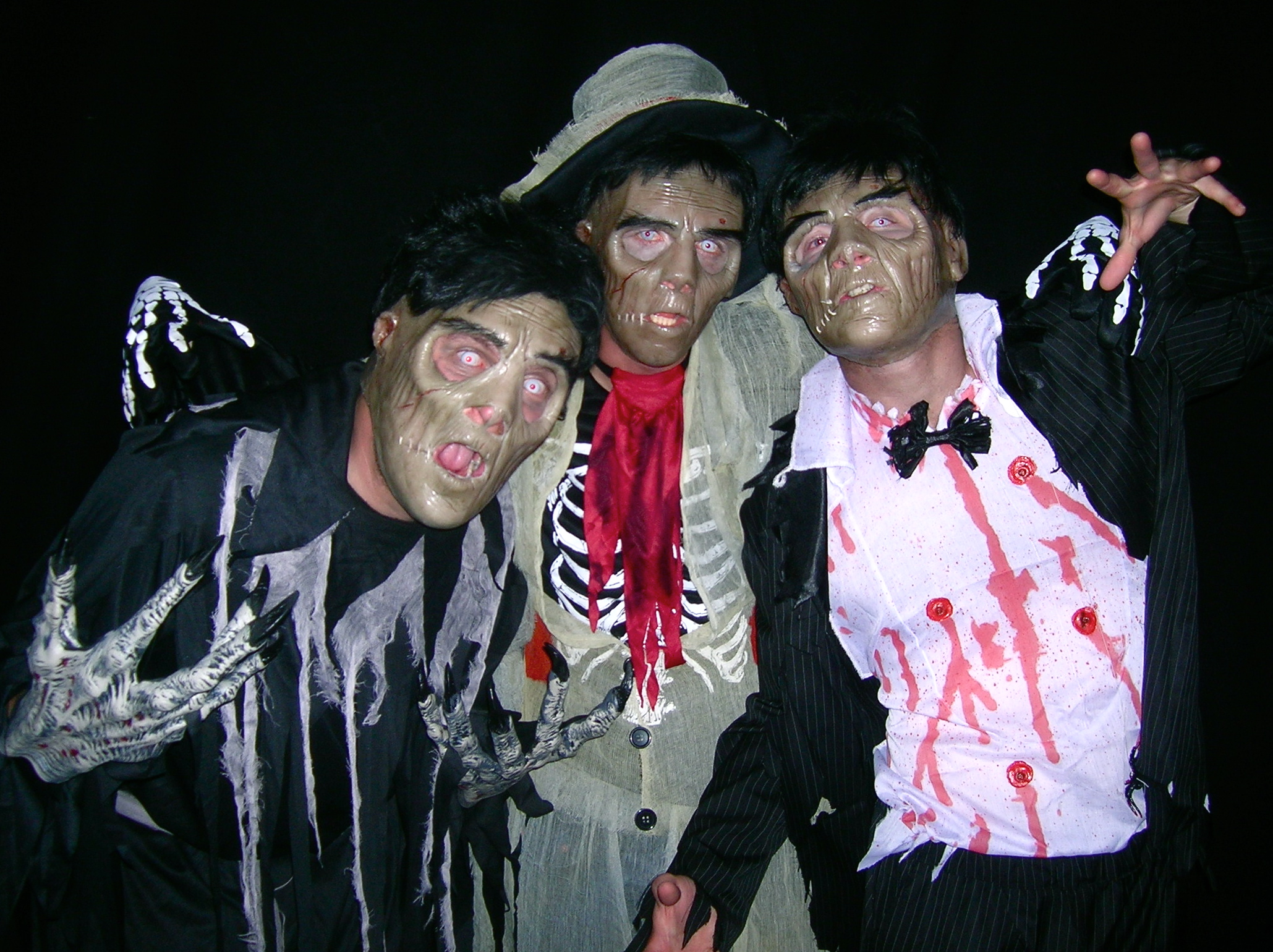 Tom, Tom and Matt as Zombies